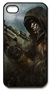 LZHCASE Personalized Protective Case for iphone 4/4s - Soldier Sniper Rain Camouflage Rifle Blackshot Games