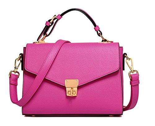 Bolsos de señora Xinmaoyuan cremallera Mujer hebilla Mango Bolsos Bolso Messenger Rosa roja