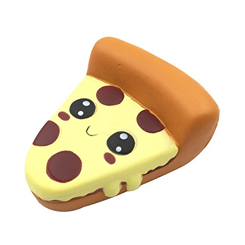 Nikkelong Silly Squishy Funny Toys Cartoon Pizza Charm Slow Rising Squeeze Stress Reliever Toys Simulation Pizza , Food Toys For Kids