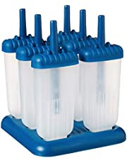 """Tovolo 61-34211 Ice Pop Maker BPA Free Food Dishwasher Safe for Homemade Juice Groovy Popsicle Molds with Sticks, Set of 6, Blueberry, 3.15"""" x 9.84"""" x 6.89"""