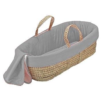Grey bkb Solid Color Moses Basket