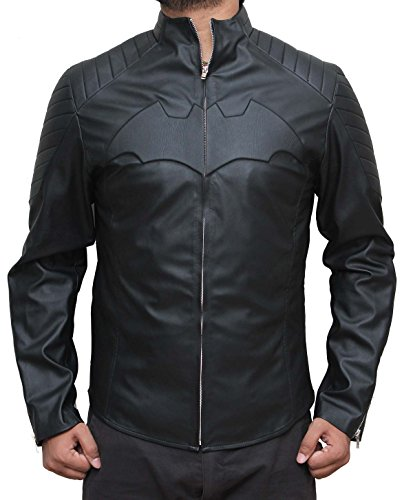 Batman Movie Apparel Collection Leather Outwear jacket For Fathers M