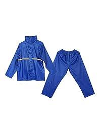 Baoblaze Outdoors Waterproof Hooded Rainsuit Jacket Trousers Rain Cover Coat Set W/Reflector Cycling Hiking