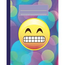 """Bright Emoji Color Composition Notebook: 8""""x10"""" Softcover Journal with 200 Pages of College Ruled Lined Paper, Printed in the USA"""