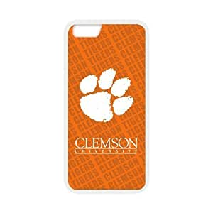 Generic Customize Unique Design NCAA Clemson University Clemson Tigers Team Logo Plastic and TPU (Laser Technology) Case Cover for iPhone6