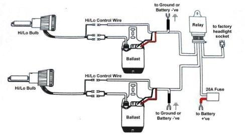 Amazon Com Xentec 9007 9004 Hb5 6000k Flex Bixenon Hi Lo Hid Rh Kit Wiring Diagram Bulb: Duratec Hid Light Wiring Diagram At Shintaries.co