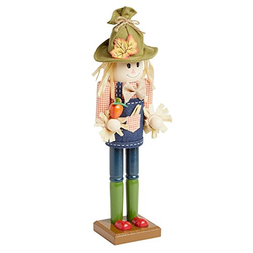 Northeast Home Goods Wooden Christmas Nutcracker Decor, 15-inch (Boy Harvest Scarecrow) by Northeast Home Goods
