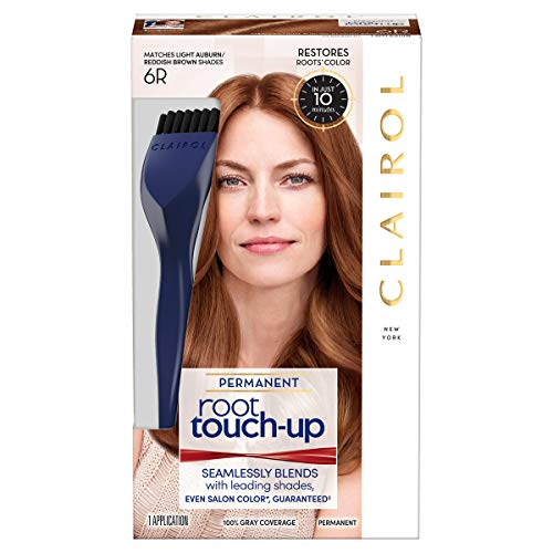 (Clairol Nice 'n Easy Root Touch-Up 6R Kit (Pack of 2), Matches Light Auburn/ Reddish Brown Shades of Hair Color, Superior Grey)