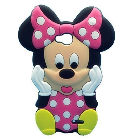 LS620 Minne Silicone Case,LS620 Animal Case,WGOOD Cute Animal Pink Minne Mouse Soft Silicone Gel Rubber Protection Skin Case Cover for LG Realm (Disney Lg Realm Cases)