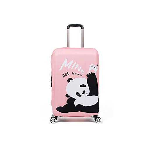 Pink Suitcase - Rainproof Elastic Luggage Protective Cover Suitcase Protector Carry-on and Checked-in Size (Small, Pink Panda)