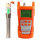 Prettyia AUA-9C Fiber Optic Cable Tester Optical Power Meter with Sc & Fc Connector Fiber Tester + 30mW Visual Fault Locator Equipment for CATV Test,CCTV Test