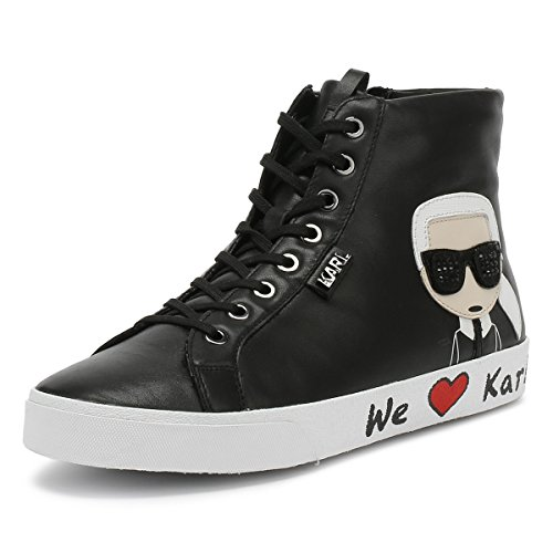 Lagerfeld Lace Skool Karl Trainers Black Hi Womens Ikonic Karl ZdBwWqawR