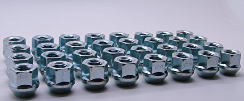 "AccuWheel LNA-14150Z8O Zinc Finish Open-End Bulge Acorn Wheel Lug Nuts (14mm x 1.5 Thread Size) 0.83"" Tall - Pack of 32 Lugnuts"