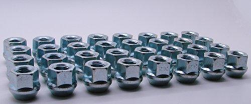 AccuWheel LNA-14200Z8O Zinc Finish Open-End Bulge Acorn Wheel Lug Nuts (14mm x 2.0 Thread Size) 0.83