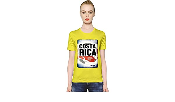 2018 Fooball World Cup Merch World Cup 2018 Football Costa Rica La Camiseta de Las Mujeres Women T-Shirt Girl Ladies Stylish Fashion Fit Custom Apparel by ...