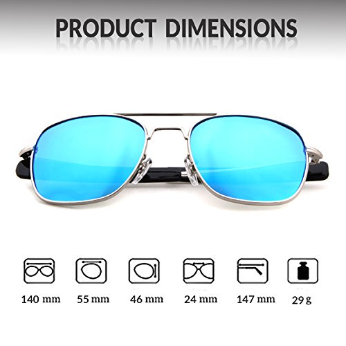 Frame Men Sports Polarized Silver Lens Goggles Protection Sunglasses Outdoor ADEWU 100 UV400 Blue for AROwOz