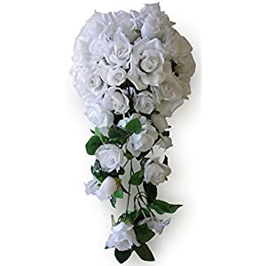 V-Max Floral Decor 20 Inches Rose Wedding Bouquet 38