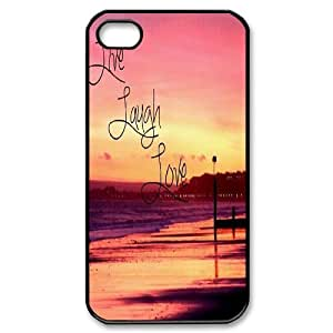 Live Laugh Love Use Your Own Image Phone Case for Iphone 4,4S,customized case cover576991