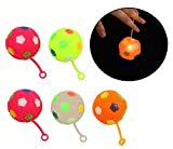 Best dazzling toys Kids Birthday Gifts - Blinking Bouncing Balls with String and Handle Review