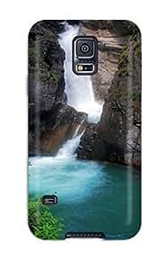 For Galaxy S5 Premium Tpu Case Cover Waterfall Earth Protective Case wangjiang maoyi
