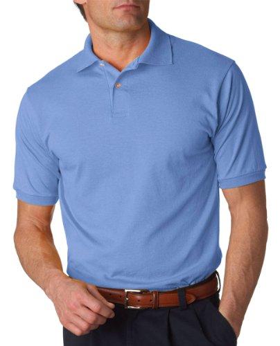Blue Jersey Light (Jerzees Men's Spot Shield Short Sleeve Polo Sport Shirt, Light Blue, Medium)