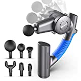 RENPHO Massage Gun with Adjustable Arm, Deep Tissue Percussion Muscle Massager Handheld, Portable Body Massager for Athletes Sore Muscle and Stiffness Back Pain Relief