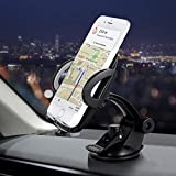 Dashboard Phone Holder, Cell Phone Mount for Car Windshield Dashboard with Strong Suction Cup for iPhone XR X 8 7 Se 6S 6 5S Galaxy S10 S9 S8 S7 S6 and More