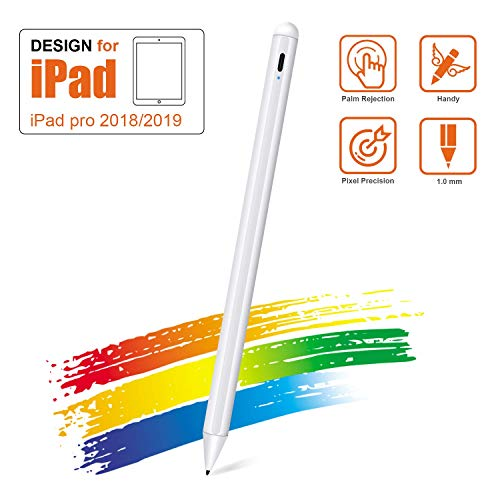 Stylus Pen for iPad, Wsky iPad Pen with Palm Rejection Compatible with Apple iPad Pro 11/iPad Air (3rd Gen)/iPad (6th Gen)/iPad Mini (5th)/12.9-inch (3rd Gen), Backup Pen Nib Included