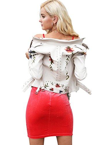 Simplee Apparel - Chaqueta - para mujer blanco
