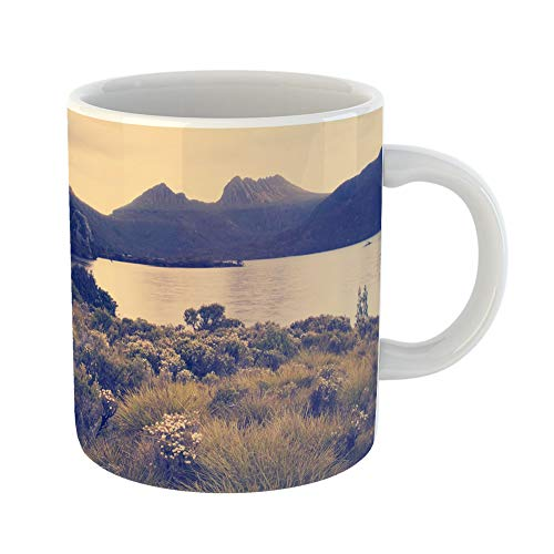 Emvency Coffee Tea Mug Gift 11 Ounces Funny Ceramic the Iconic of Tasmania Cradle Mountain Sits Majestic Atop Jewel That Is Dove Gifts For Family Friends Coworkers Boss Mug from Emvency