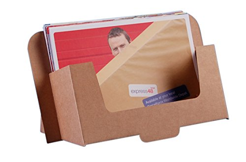 Stand-Store CARD-A5LAN Cardboard Leaflet Dispenser for A5 Landscape Leaflets and Brochures - Brown (Pack of 50)
