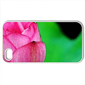 Lotus - Case Cover for iPhone 4 and 4s (Flowers Series, Watercolor style, White) by icecream design