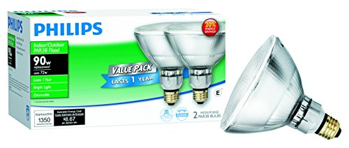 Philips EcoVantage 2-Watt PAR38 Flood Light Bulb, Dimmable