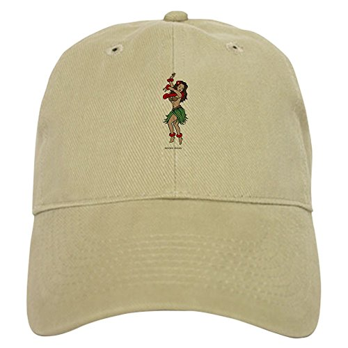 Hula Tattoo Hawaii Girl (CafePress - Hula Girl Cap - Baseball Cap Adjustable Closure, Unique Printed Baseball Hat)