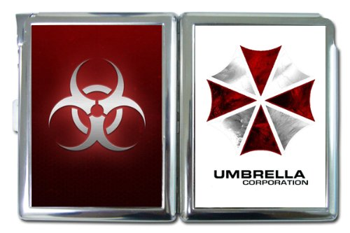 Resident Evil Umbrella Corp Cigarette Case built in Lighter Wallet card Holder Banknote Cigarettes