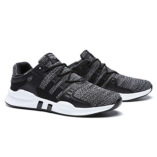 HUSKSWARE Mens Running Shoes Breathable Sneakers Sport Shoes Lightweight Sneakers Walking Shoes Blackgrey 7iHH5Ni