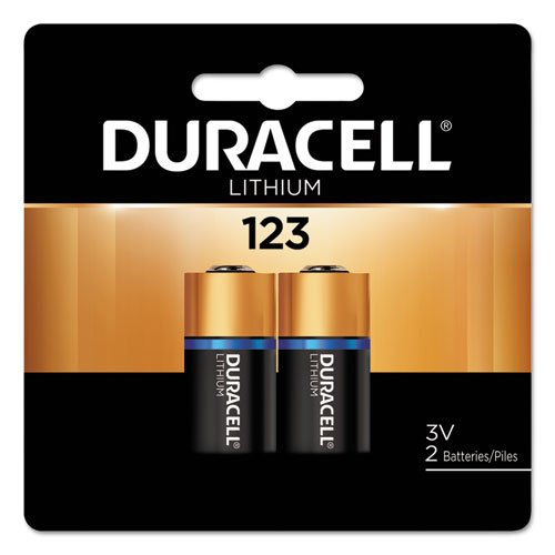 Duracell High-Power Lithium Battery, 123, 3V, 2/Pack