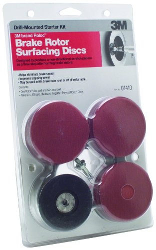 (3M 01410 Roloc Brake Rotor Surface Conditioning Disc Starter Pack)