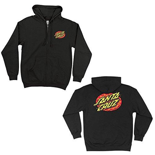 Santa Cruz Mens Psychedelic Dot Hoody Zip Sweatshirt Medium Black (Santa Hoodie)