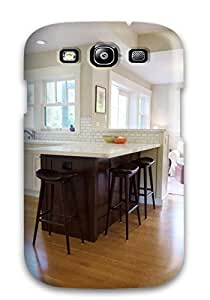 Fashionable Style Case Cover Skin For Galaxy S3- Kitchen And Family Room With Craftsman Details