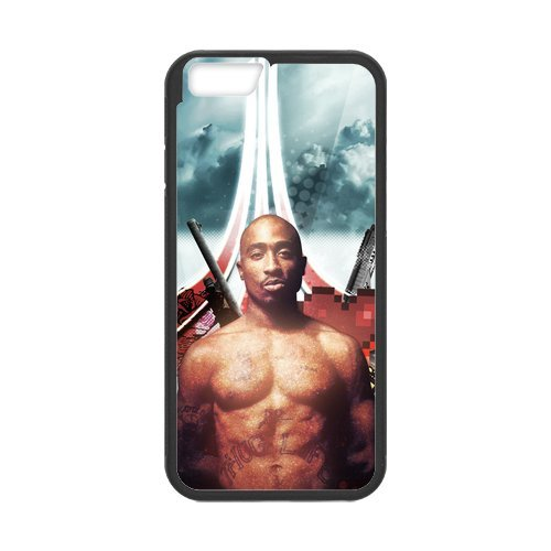 """Fayruz - iPhone 6 Rubber Cases, 2Pac Hard Phone Cover for iPhone 6 4.7"""" F-i5G134"""