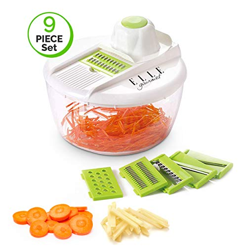 Elle Gourmet Mandoline Slicer Sets – Multiple Pieces & Parts Included for Slicing, Chopping and Peeling