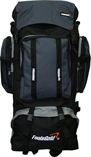 Extra Large Hiking Travel Backpack Camping Rucksack Top and Bottom Loading.
