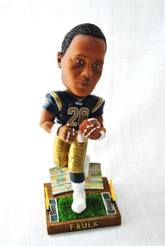 St Louis Rams Marshall Faulk Official NFL #28 stadium base action Bobble Head (Rams St Stadium Louis)