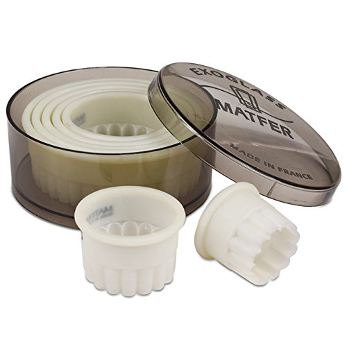 Matfer Exoglass Fluted Round Cutter Set - 7 pcs by Matfer Bourgeat (Image #2)