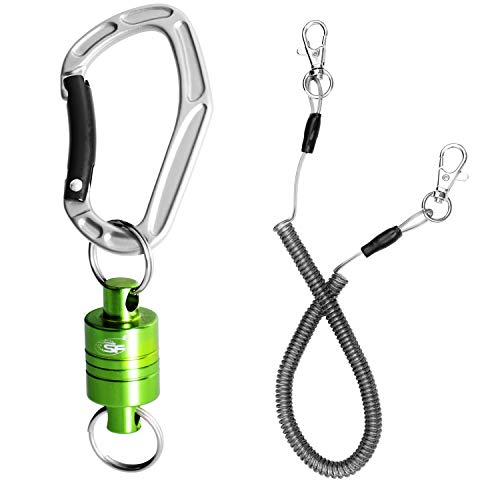 SF Strongest Magnetic Net Release Magnet Clip Holder Retractor with Cord 12 LB(New ()