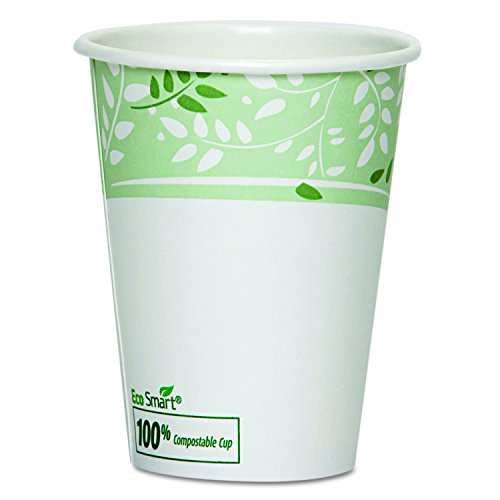 Dixie 2342PLA EcoSmart Viridian PLA Paper Hot Cup, 12 oz (Case of 20 Sleeves, 50 Cups per Sleeve) by Georgia-Pacific