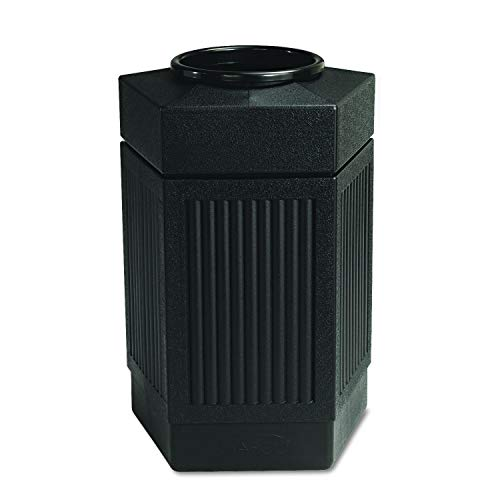- Safco Products Canmeleon Outdoor/Indoor Open Top Pentagon Trash Can 9485BL, Black, Five Fluted Panels, 30-Gallon Capacity (Renewed)