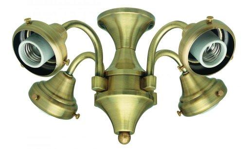 UPC 049694281241, Hunter 28124 4 Light Fitter - Antique Brass