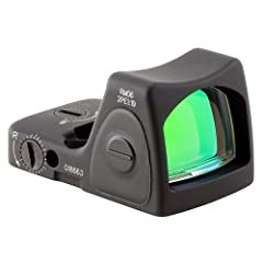 Developed to improve precision and accuracy with any style or caliber of weapon, the Trijicon RMR (Ruggedized miniature reflex) type 2 is designed to be as durable as the legendary ACOG. The RM06 is an LED sight powered by a standard CR2032 b...